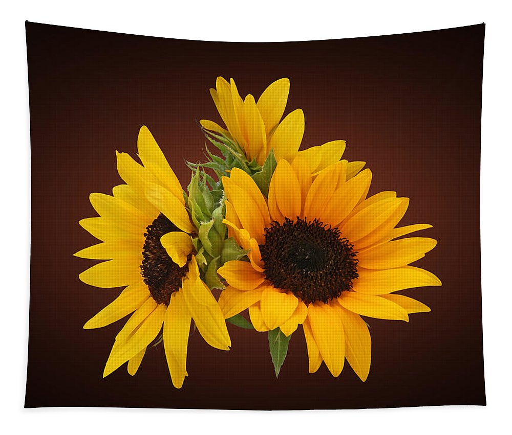 Sunflower Tapestry featuring the photograph Ring Of Sunflowers by Susan Savad