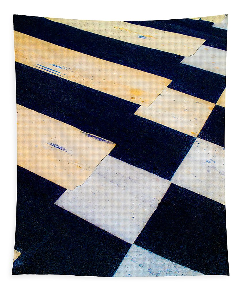 Road Tapestry featuring the photograph Road Markings by Hakon Soreide
