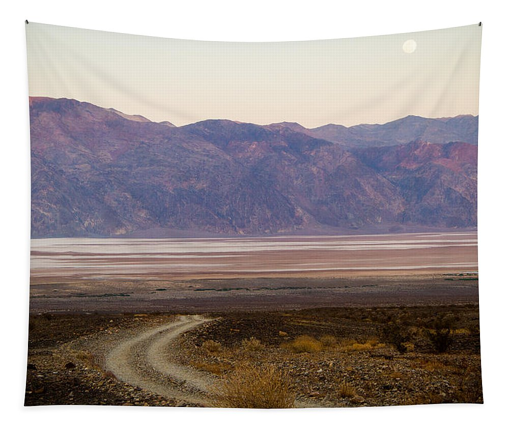 Death Valley Tapestry featuring the photograph Road Through Death Valley by Jean Noren