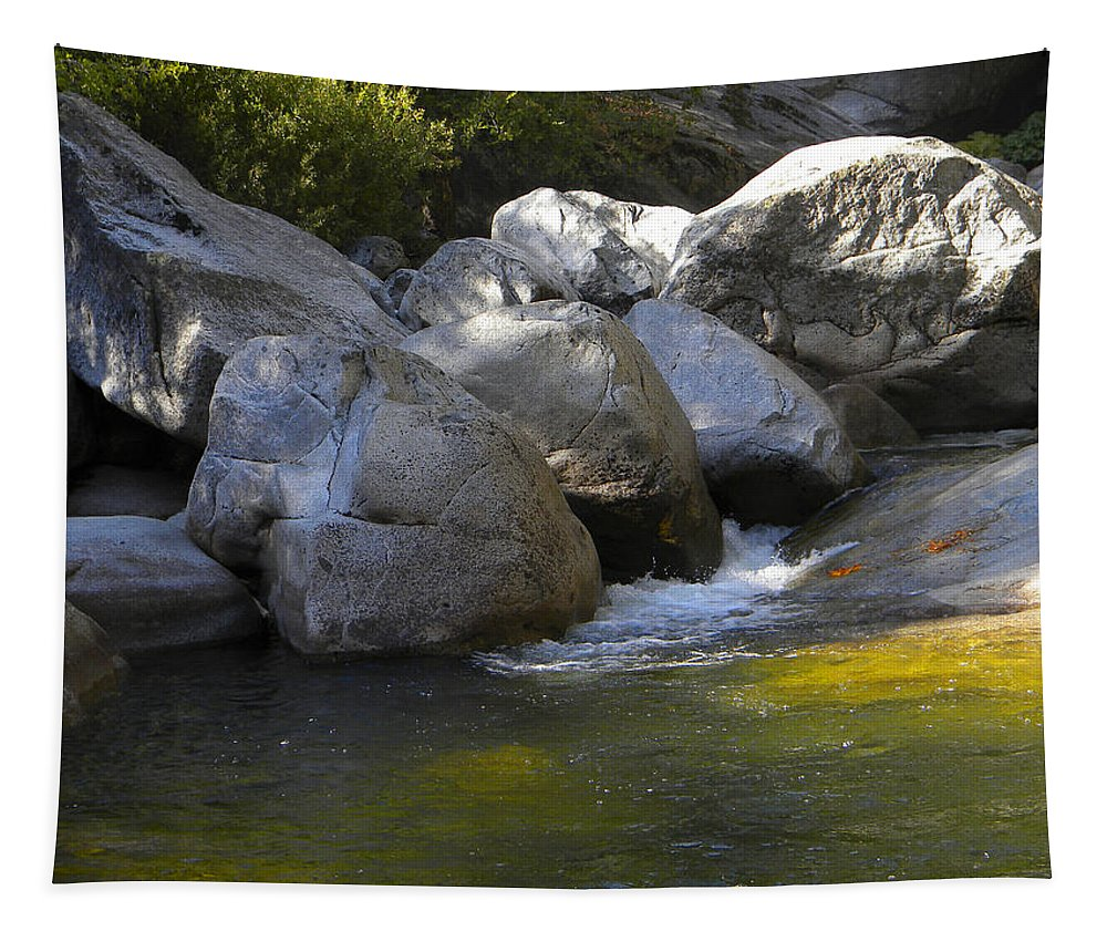 Rock Creek Tapestry featuring the photograph Rock Creek by Frank Wilson