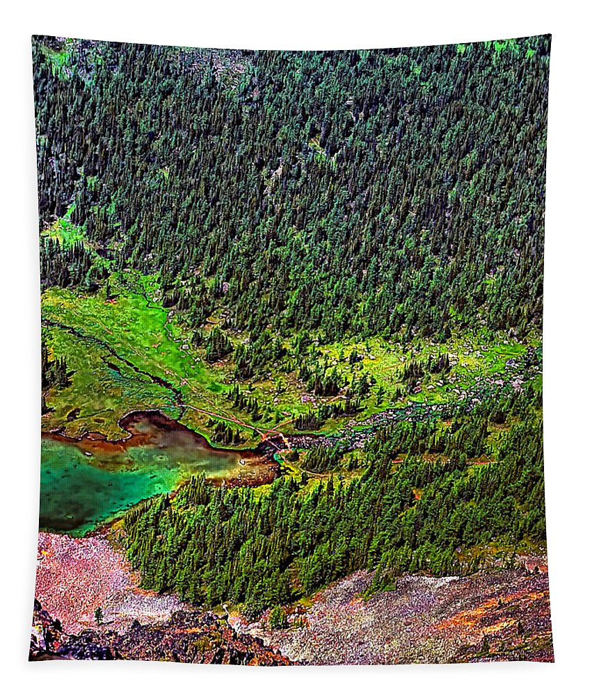 Canadian Rockies Tapestry featuring the photograph Rocky Mountain High by Steve Harrington