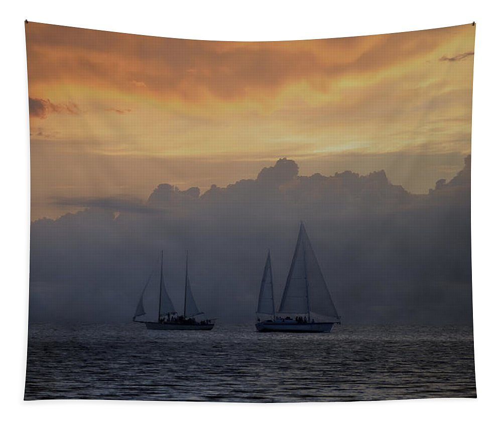 Rolling Tapestry featuring the photograph Rolling Fog Bank - Key West by Bill Cannon