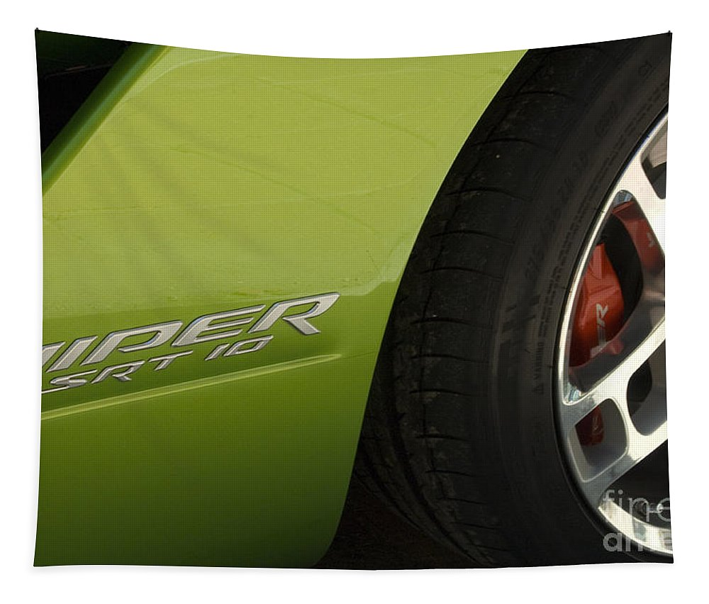 Viper Tapestry featuring the photograph Route 66 Classic Cars 7 by Bob Christopher