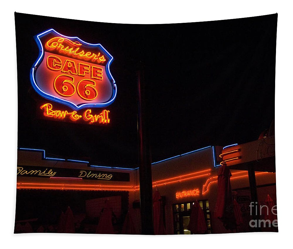 Flames Tapestry featuring the photograph Route 66 Cruisers by Bob Christopher