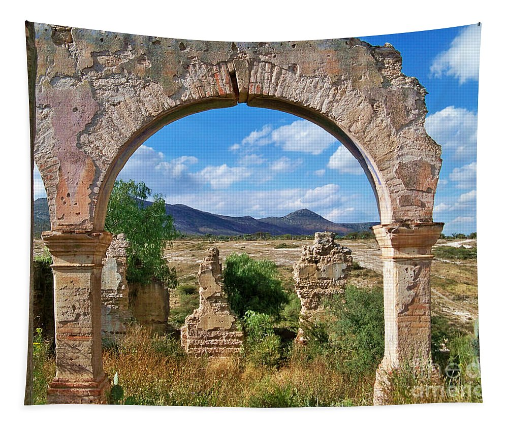 Ruins Tapestry featuring the photograph Ruins Of Mineral De Pozos by John Kolenberg