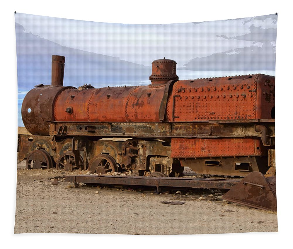 Railway Tapestry featuring the photograph Rust Never Sleeps 4 by Dominic Piperata