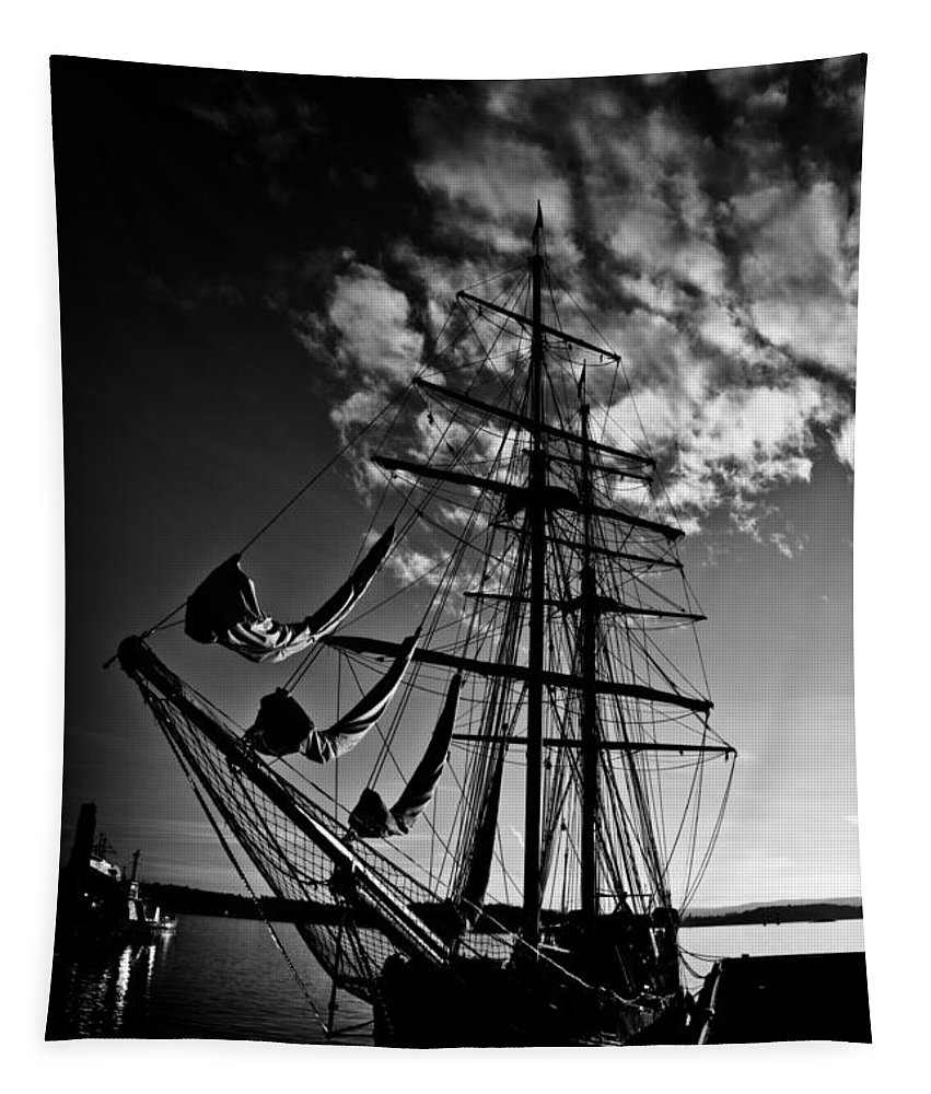 Art Tapestry featuring the photograph Sails In The Sunset by Hakon Soreide