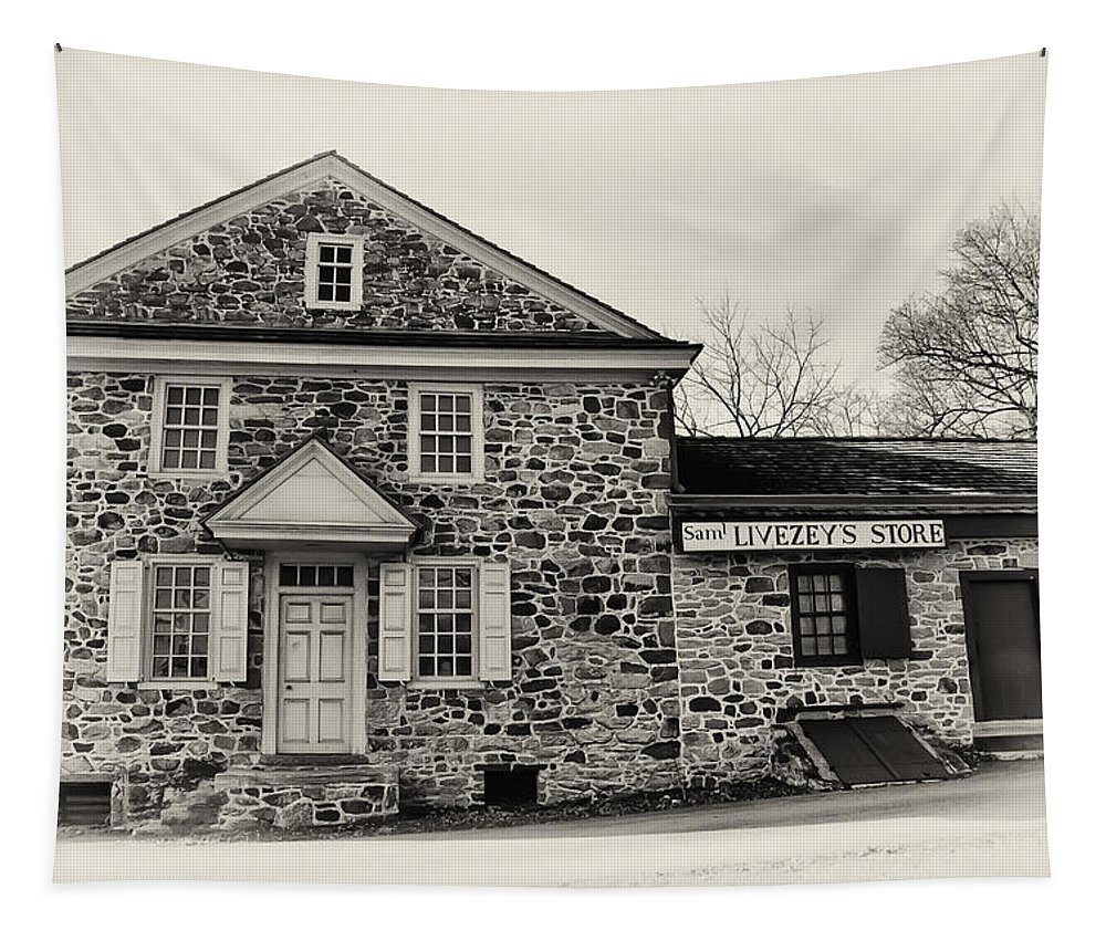 Samuel Livezey's Store Tapestry featuring the photograph Samuel Livezey's Store by Bill Cannon