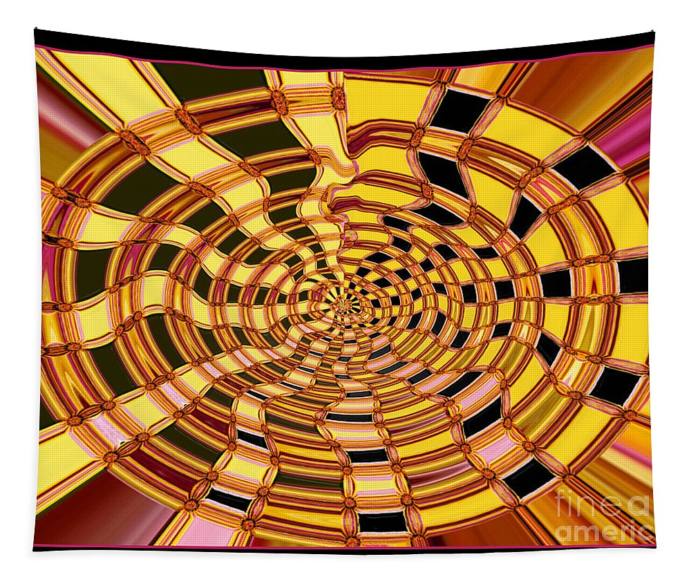 Abstract Tapestry featuring the photograph Satin Ribbons Abstract by Carol Groenen
