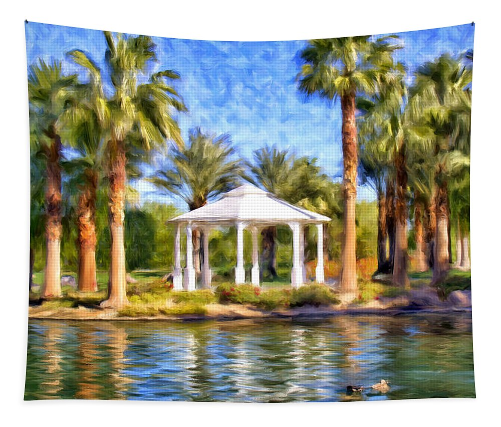 Saturday Tapestry featuring the painting Saturday In The Park by Dominic Piperata