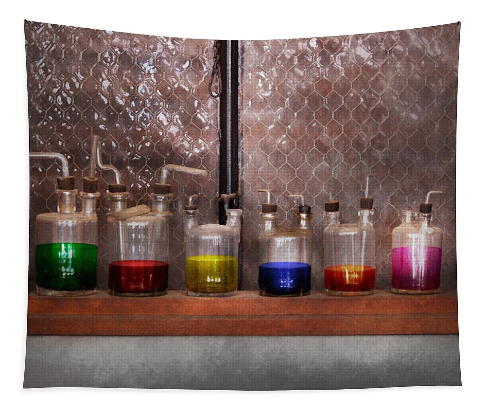 Couples Tapestry featuring the photograph Science - Chemist - Glassware For Couples by Mike Savad