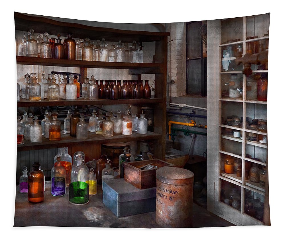 Medicine Tapestry featuring the photograph Science - Chemist - The Secret Of Life by Mike Savad