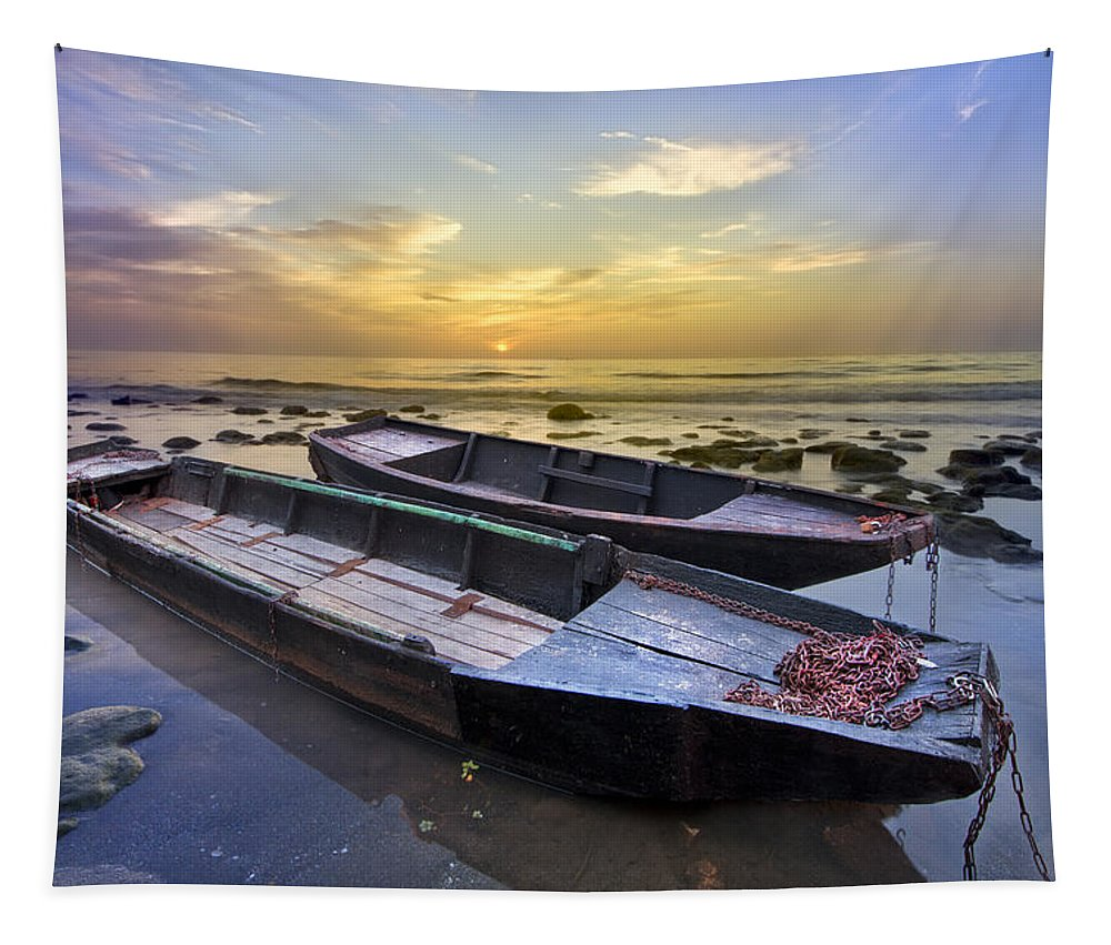 Boats Tapestry featuring the photograph Secret Of The Sea by Debra and Dave Vanderlaan