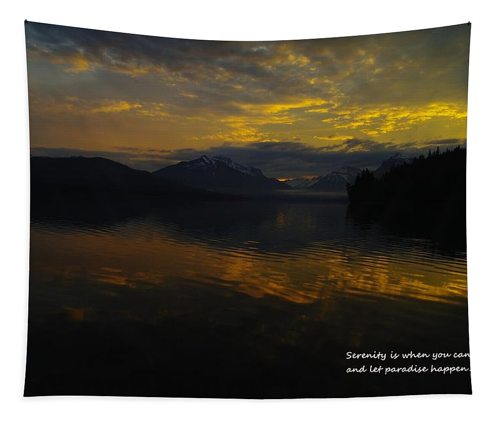 Mountains Tapestry featuring the photograph Serenity by Jeff Swan