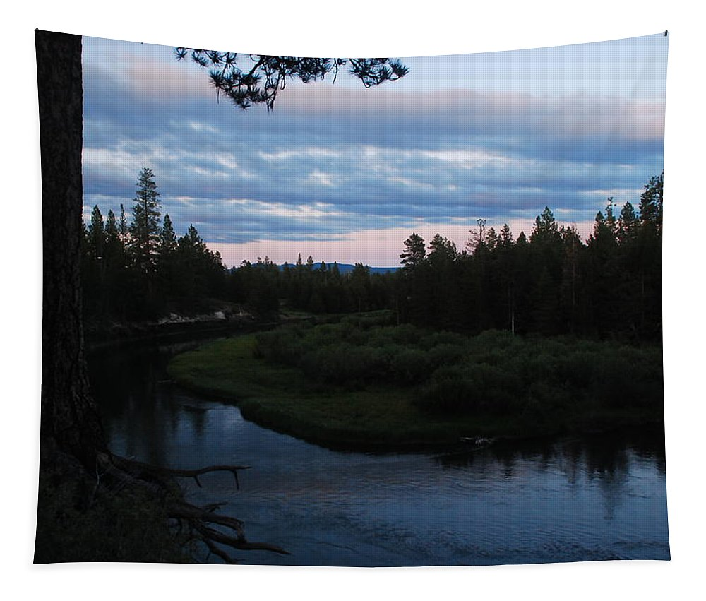 Sunset Tapestry featuring the photograph Serenity by Michael Merry