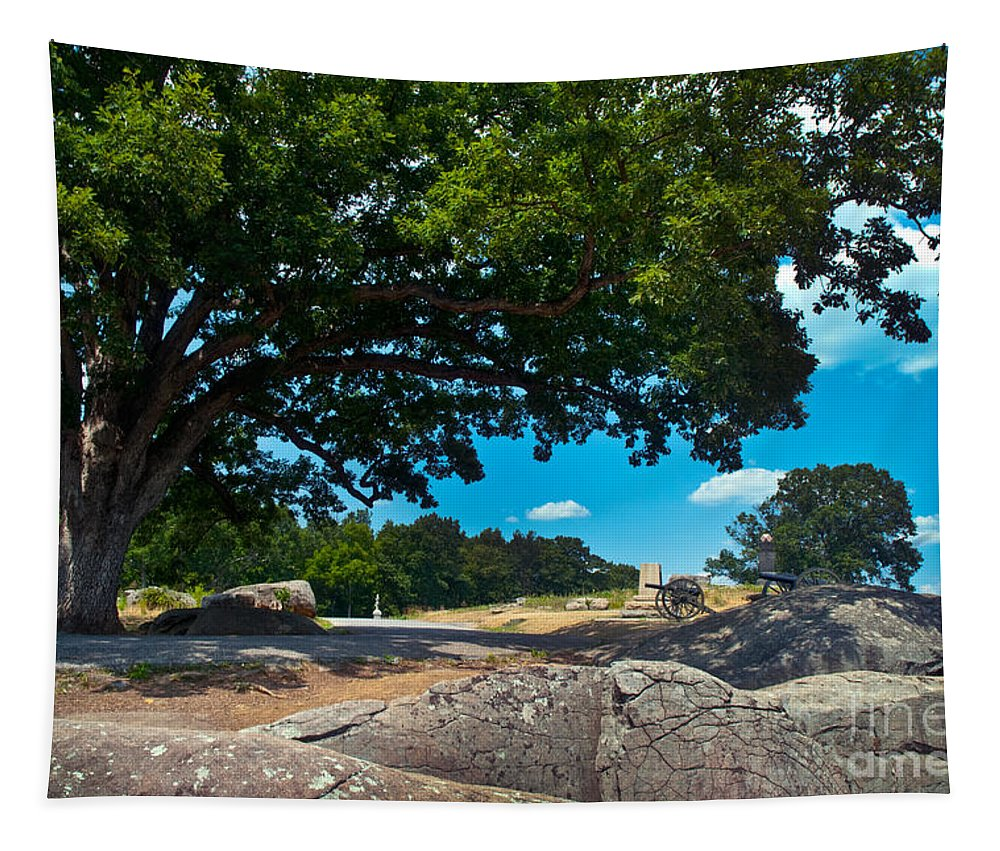 Gettysburg Tapestry featuring the photograph Shady Hilltop by Paul W Faust - Impressions of Light