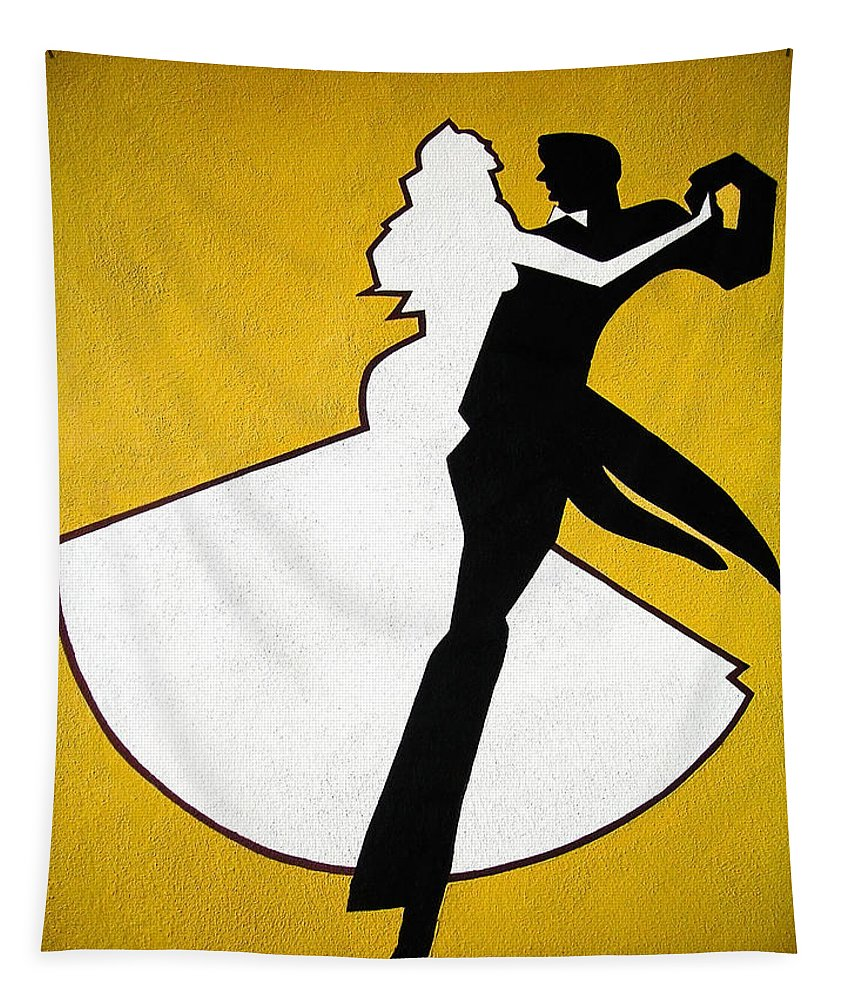 Graffiti Tapestry featuring the photograph Shall We Dance ... by Juergen Weiss