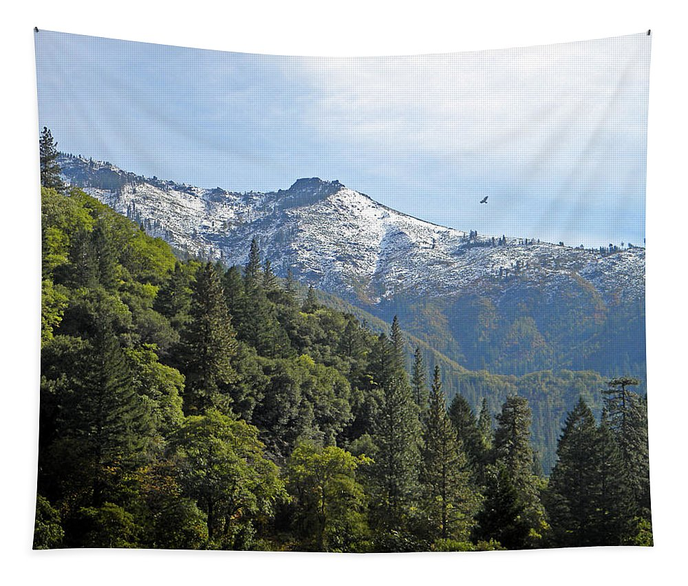Sierra Nevada Tapestry featuring the photograph Sierra First Snow by Frank Wilson