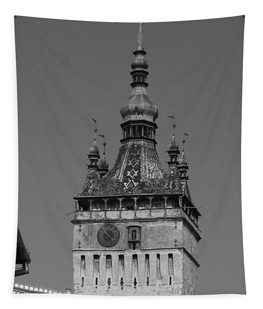 Old Town Tapestry featuring the photograph Sighisoara old town by Amalia Suruceanu