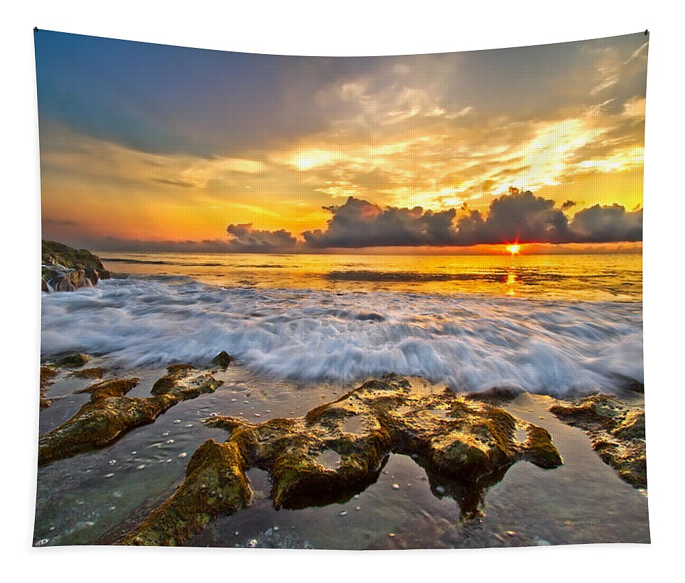 Blowing Tapestry featuring the photograph Silky Rush by Debra and Dave Vanderlaan