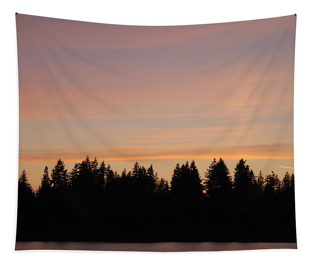 Sunset Tapestry featuring the photograph Silver Lake Sunset by Michael Merry