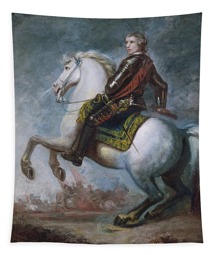 Sir Tapestry featuring the painting Sir Jeffrey Amherst by Sir Joshua Reynolds