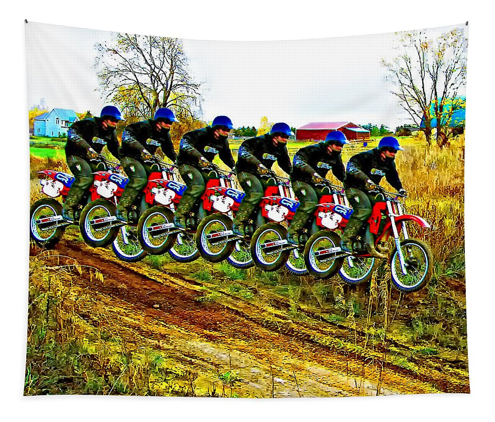Honda Cr250 Tapestry featuring the photograph Six Pack by Steve Harrington