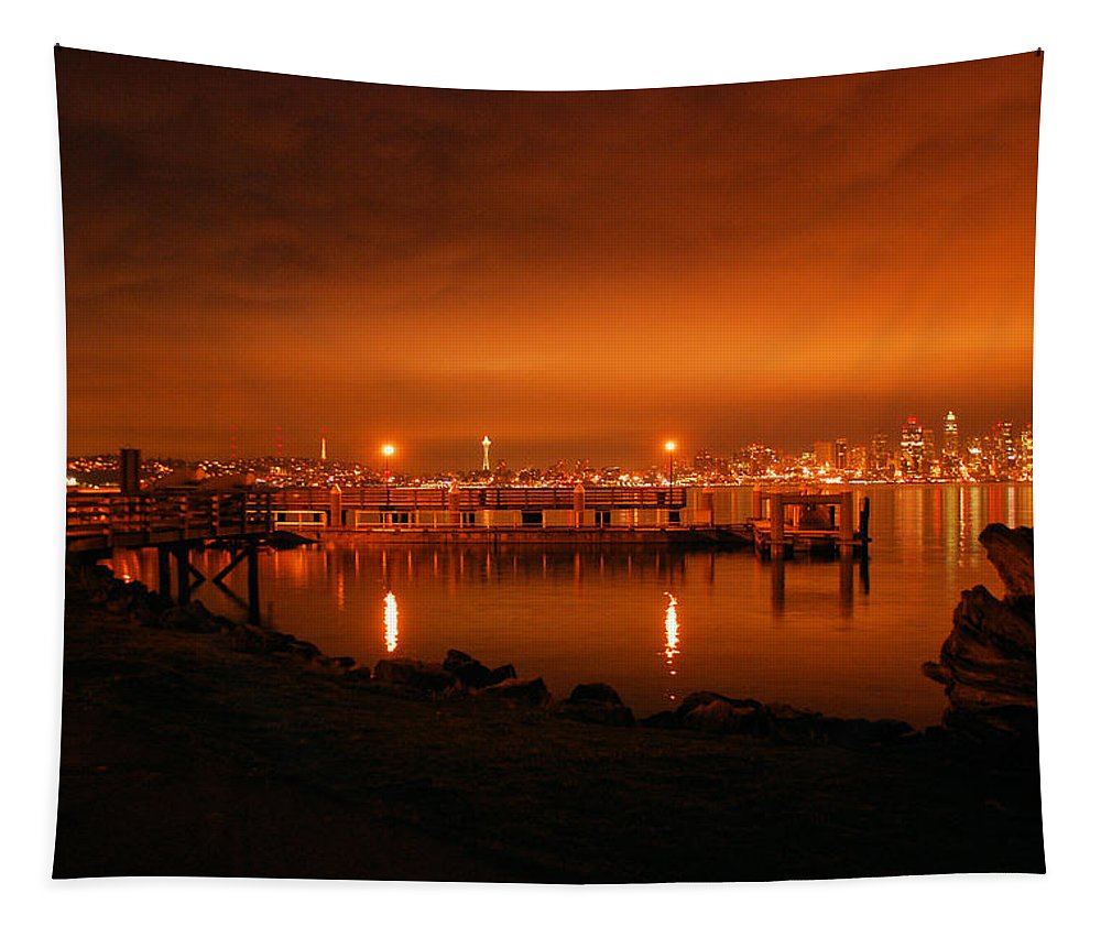 Fire Tapestry featuring the photograph Skies On Fire by Michael Merry