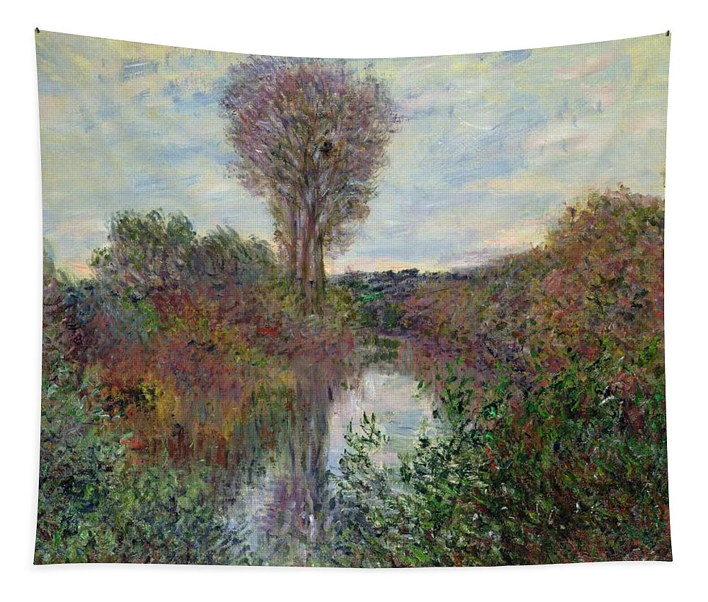 Small Tapestry featuring the painting Small Branch Of The Seine by Claude Monet