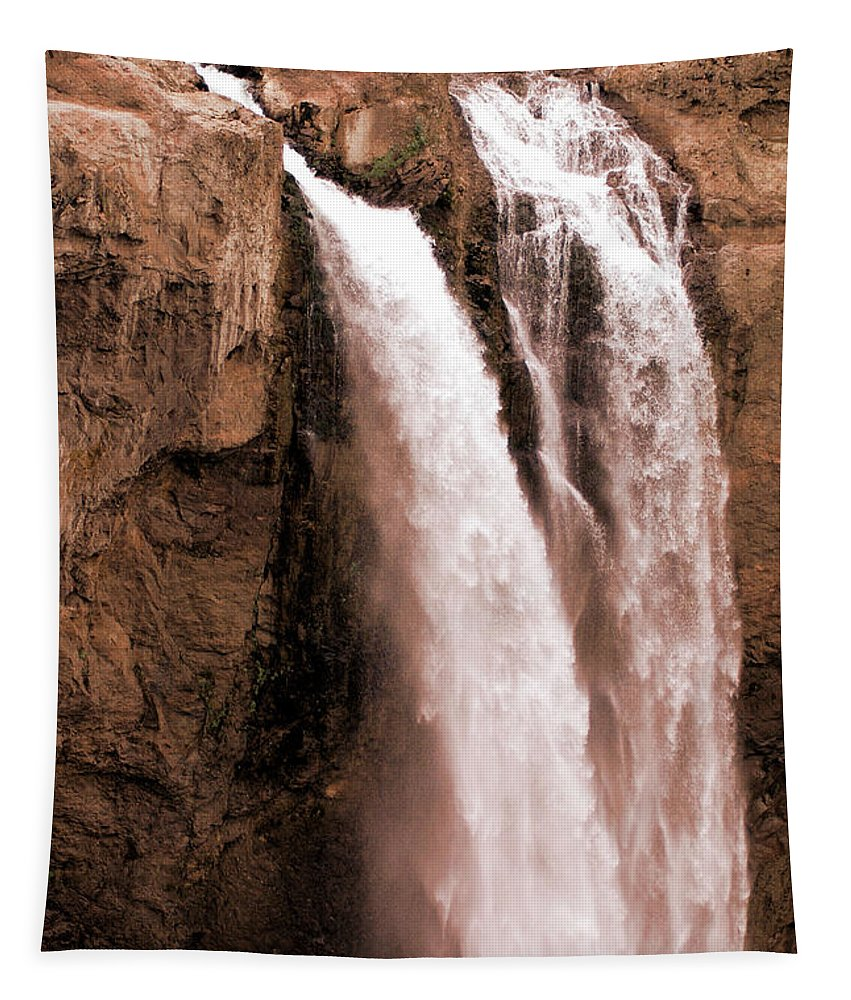 Snoqualmie Tapestry featuring the photograph Snoqualmie Falls by Michael Merry