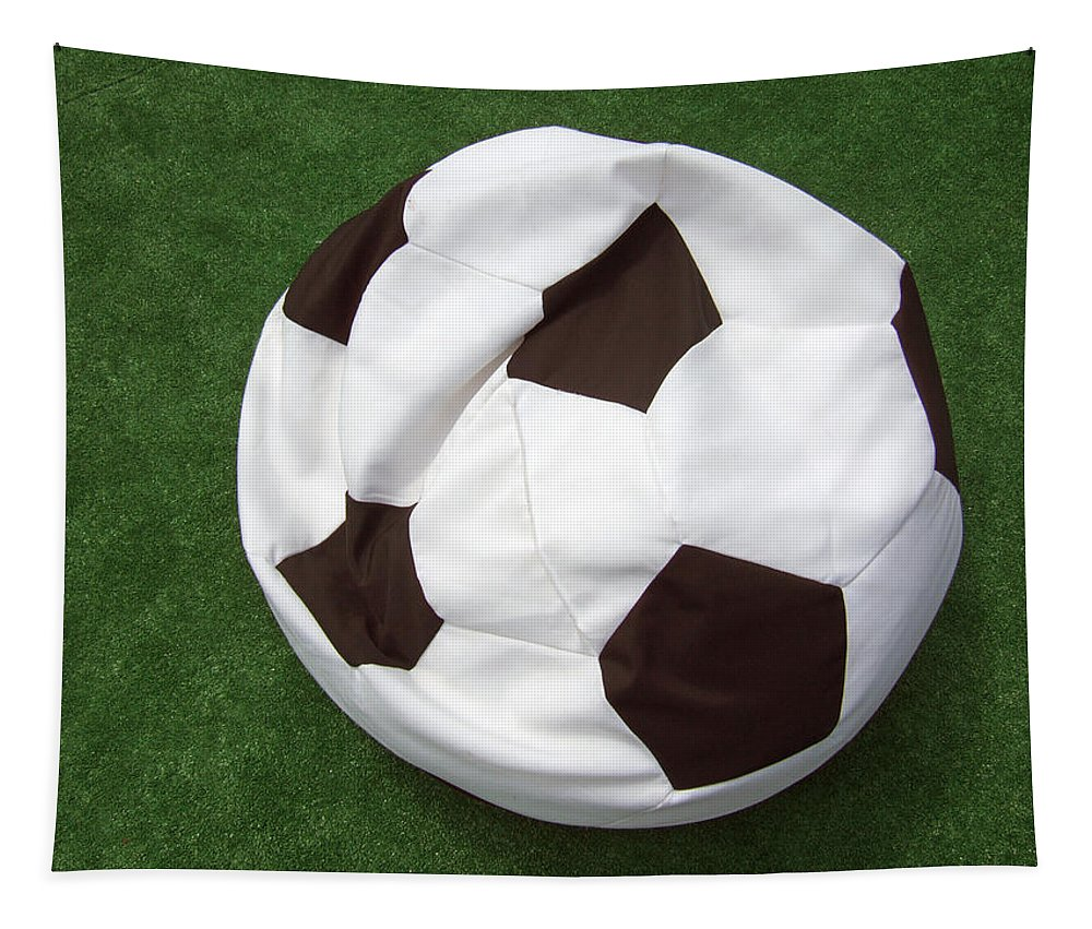 Ball Tapestry featuring the photograph Soccer Ball Seat Cushion by Matthias Hauser
