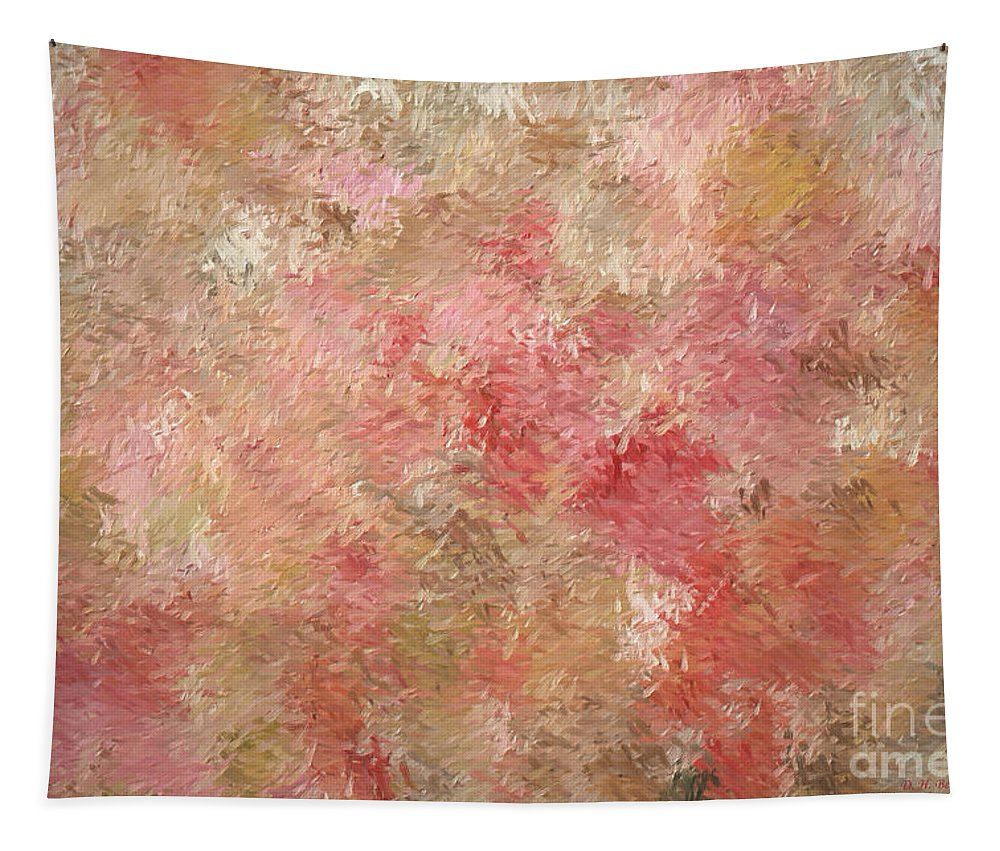 Impressionistic Abstract Tapestry featuring the digital art Soft Autumn Colors by Deborah Benoit