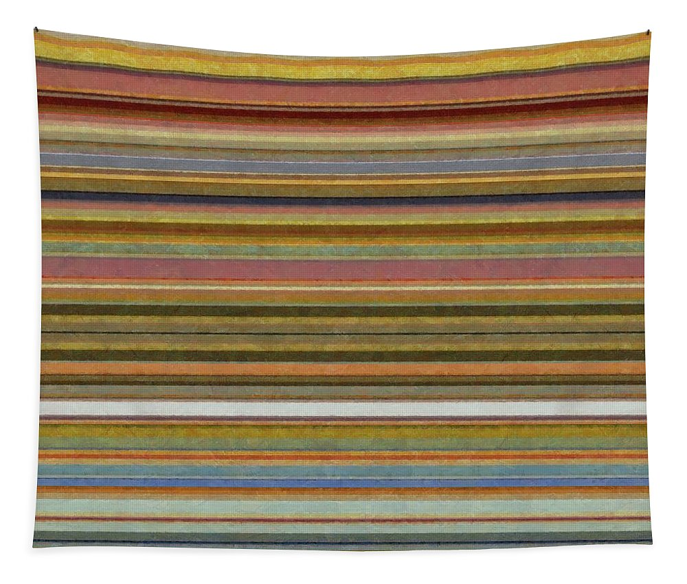 Textured Tapestry featuring the painting Soft Stripes L by Michelle Calkins