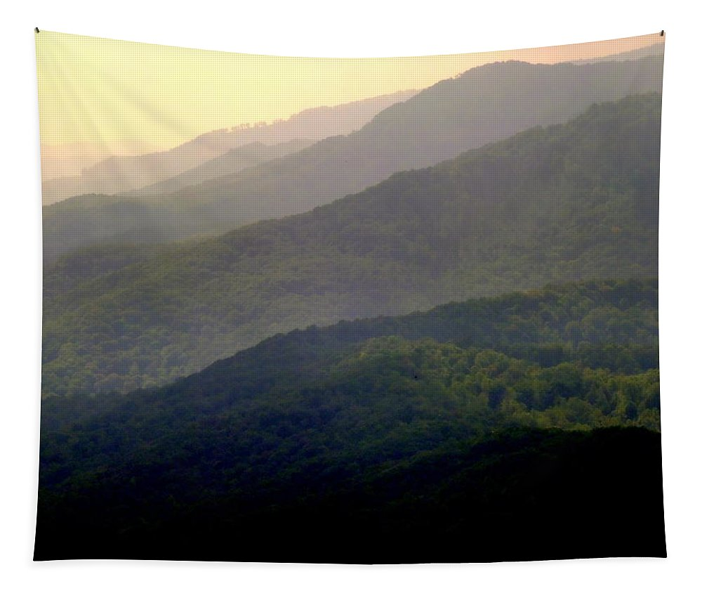 Mountains Tapestry featuring the photograph Song Of The Hills by Karen Wiles