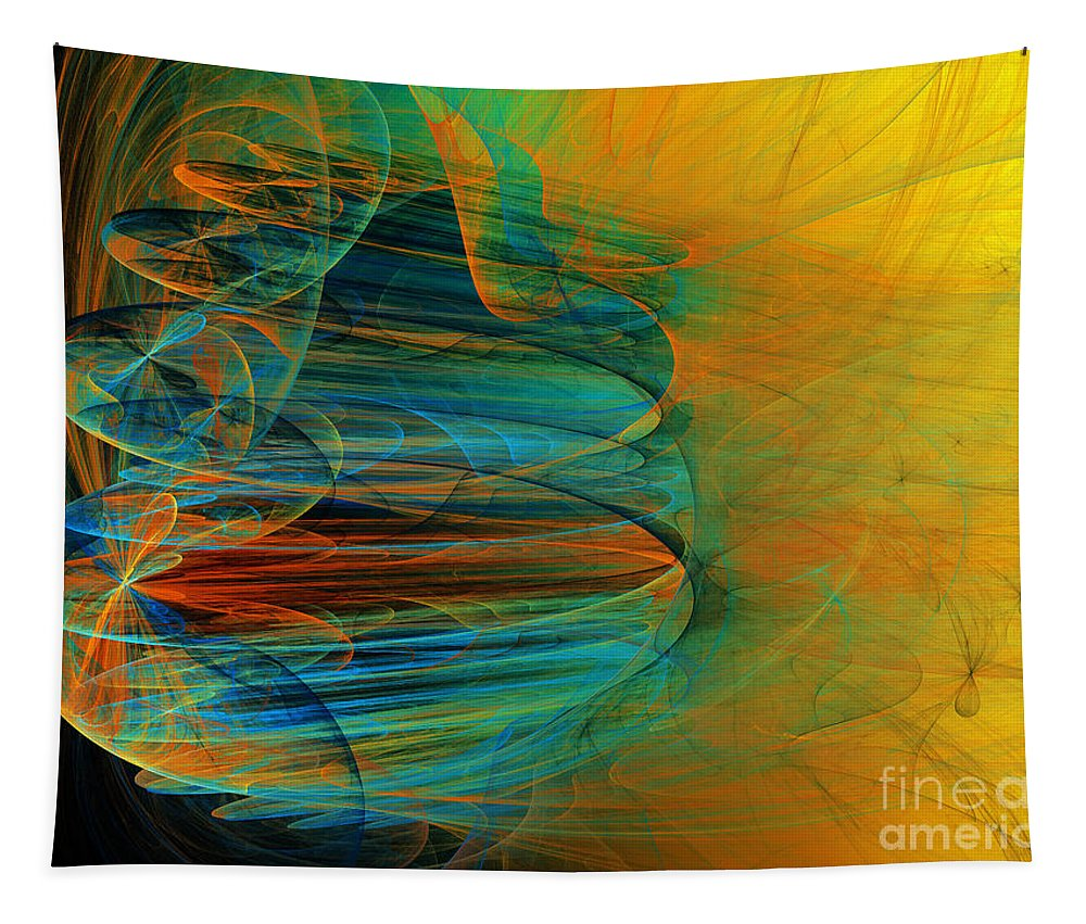 Abstract Tapestry featuring the digital art South Western Influence by Andee Design