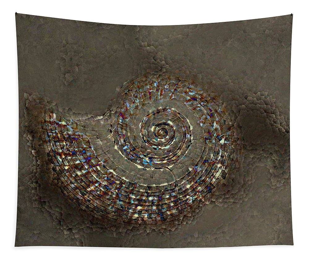 Spiral Textures Tapestry featuring the photograph Spiral Textures by Linda Sannuti