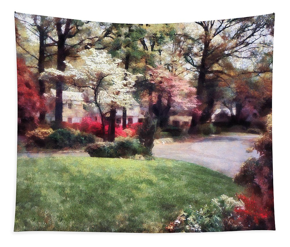 Spring Tapestry featuring the photograph Spring In The Neighborhood by Susan Savad