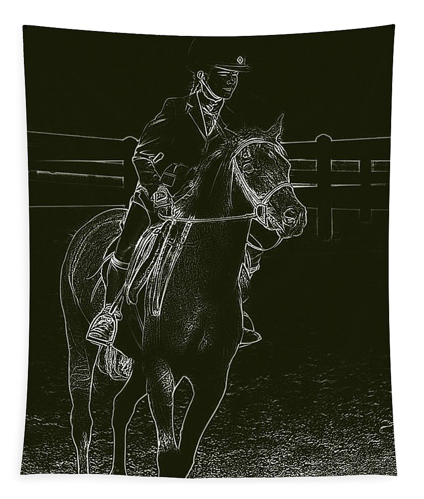 Horse Tapestry featuring the photograph Stand Out Glowing Duo by Karol Livote