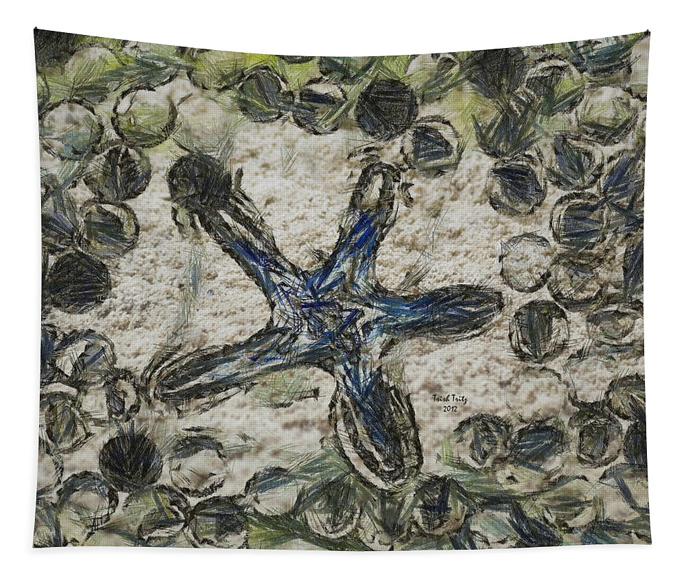 Star Tapestry featuring the photograph Star Of Longwood Beach by Trish Tritz