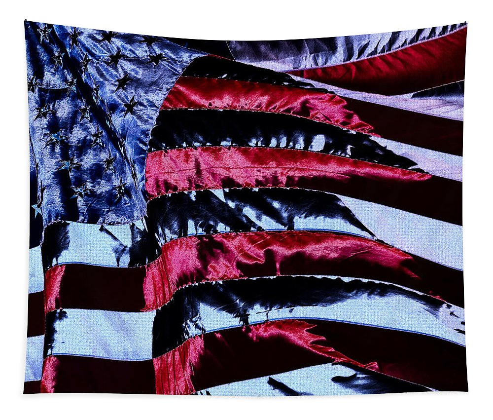 Flag Tapestry featuring the photograph Stars And Stripes by David Patterson