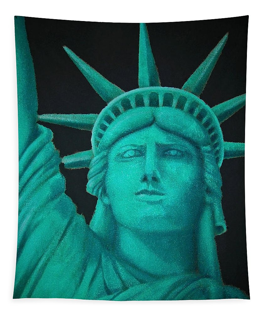 North America Tapestry featuring the photograph Statue Of Liberty ... by Juergen Weiss
