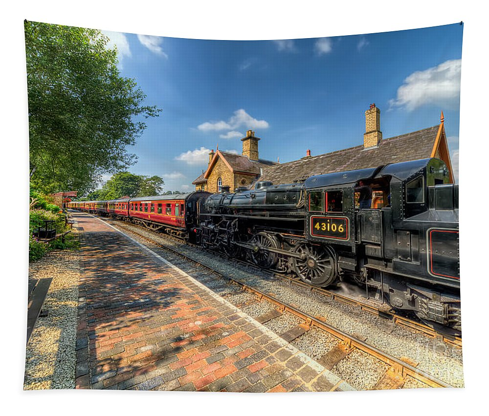Arley Tapestry featuring the photograph Steam Train by Adrian Evans