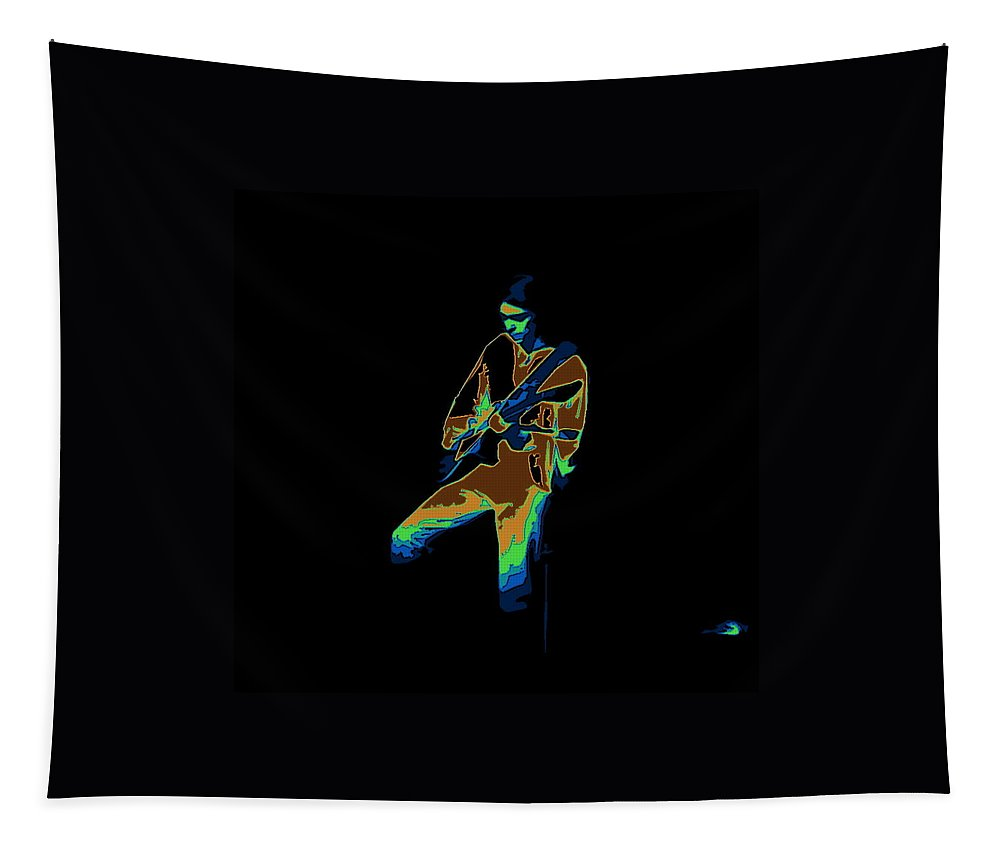 Genesis Tapestry featuring the photograph Steve Hackett Cosmic by Ben Upham