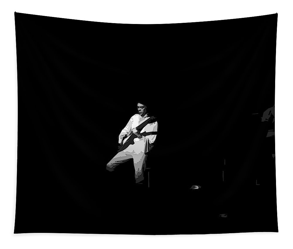 Genesis Tapestry featuring the photograph Steve Hackett In Berkeley by Ben Upham