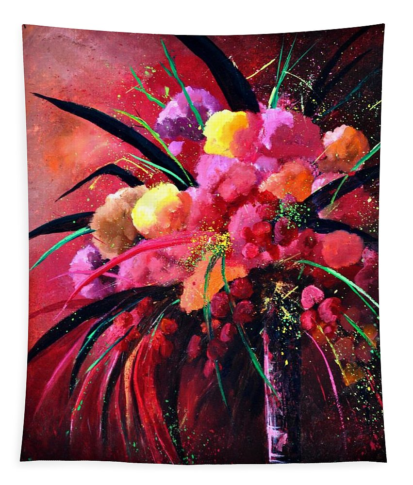 Flowers Tapestry featuring the painting Still Life 0101 by Pol Ledent