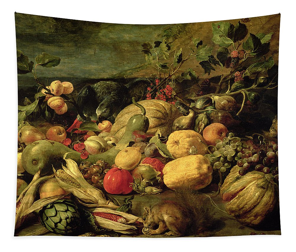 Still Life Of Fruits And Vegetables Tapestry featuring the painting Still Life Of Fruits And Vegetables by Frans Snyders