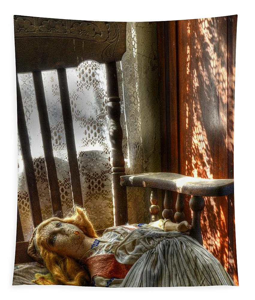 Doll Tapestry featuring the photograph Still Waiting by Bob Christopher