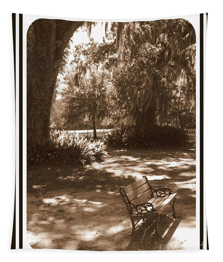 Bench Tapestry featuring the photograph Still Waiting by Carol Groenen
