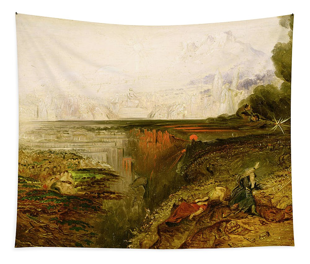 Xyc139418 Tapestry featuring the photograph Study For The Last Judgement by John Martin