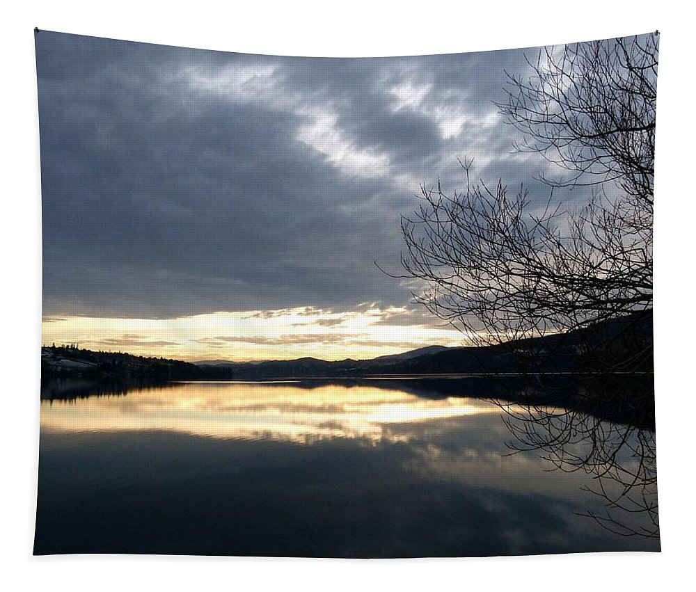 Wood Lake Tapestry featuring the photograph Stunning Tranquility by Will Borden
